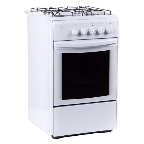 Газовая плита FLAMA RG 24026 W, газовая духовка, белый газовая плита flama rg 24022 w газовая духовка белый