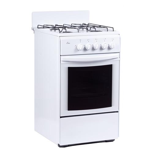 Фото - Газовая плита FLAMA RG 24027 W, газовая духовка, белый газовая плита flama rg 24019 w