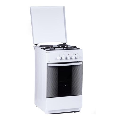 Газовая плита FLAMA RK 2211 W, электрическая духовка, белый