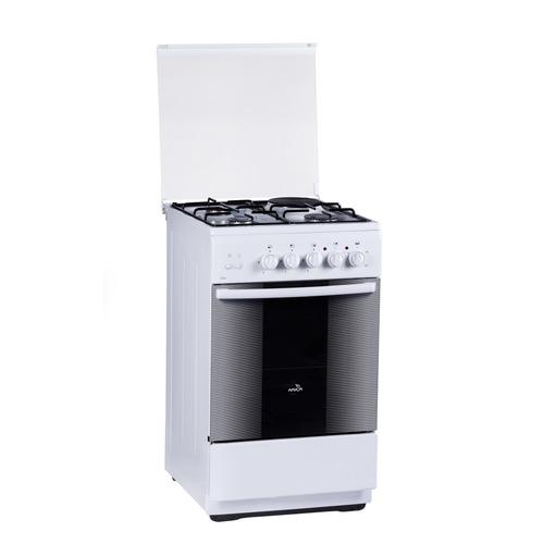 Газовая плита FLAMA RK 23-121 W, электрическая духовка, белый