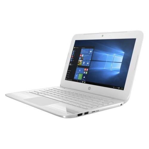 Ноутбук HP Stream 11-y010ur, 11.6, Intel Celeron N3060 1.6ГГц, 2Гб, 32Гб eMMC, Intel HD Graphics 400, Windows 10, 2EQ24EA, белый ноутбук hp stream 14 ax018ur 14 intel celeron n3060 1 6ггц 4гб 32гб ssd intel hd graphics 400 windows 10 2eq35ea серый