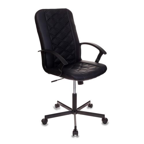 Кресло БЮРОКРАТ CH-550, на колесиках, искусственная кожа, черный [ch-550/black] кресло бюрократ ch 605 на колесиках искусственная кожа черный [ch 605 black]
