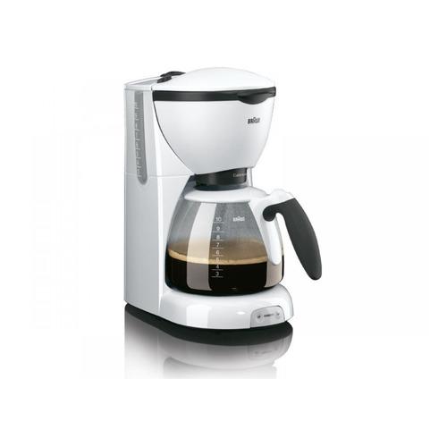 Кофеварка BRAUN KF520/1, капельная, белый [0x13211005] KF520/1 по цене 4 410