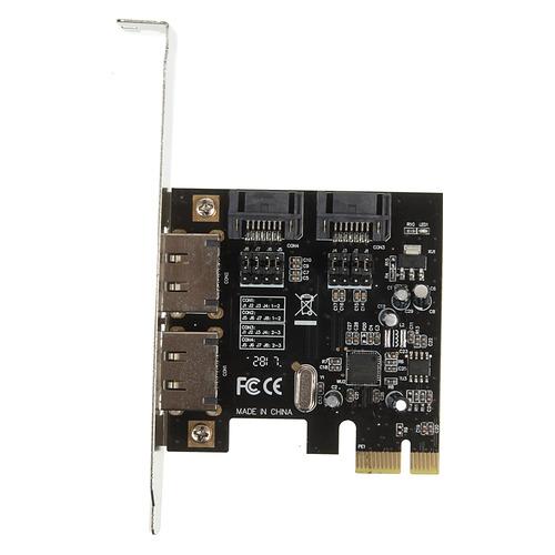 Контроллер PCI-E ASM1061 SATA III 2xE-SATA 2xSATA Ret контроллер orient xwt pe2s1p pci e 2xcom 1lpt mcs9901cv ret