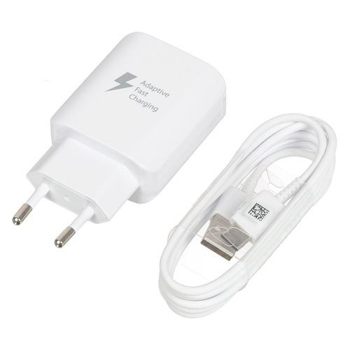 Сетевое зарядное устройство SAMSUNG EP-TA300CWEGRU, USB, USB type-C, 2.1A, белый зарядное