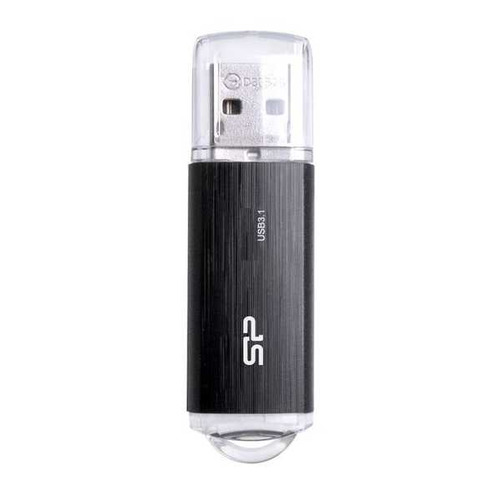 Флешка USB SILICON POWER Blaze B02 128ГБ, USB3.1, черный [sp128gbuf3b02v1k] SILICON POWER
