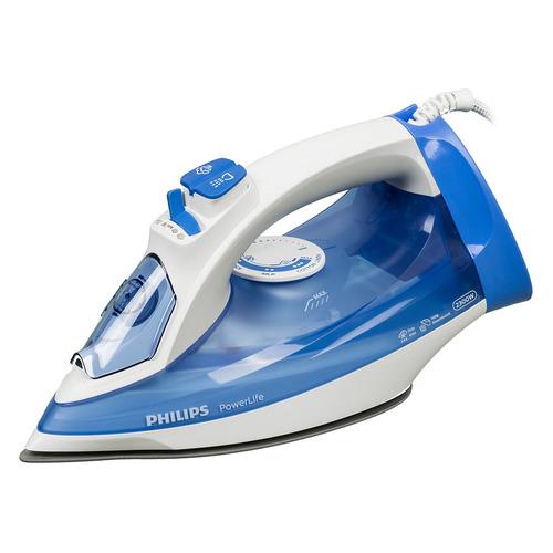 цена на Утюг PHILIPS GC2990/20, 2300Вт, синий/ белый