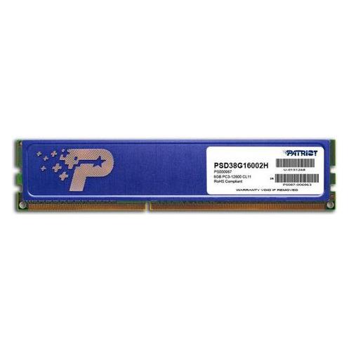 Модуль памяти PATRIOT PSD38G16002H DDR3 - 8ГБ 1600, DIMM, Ret PATRIOT