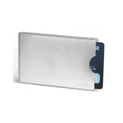 Упаковка держателей для кредитной карты DURABLE 8900-23, 54х85мм, серебристый Rfid Secure по цене 623
