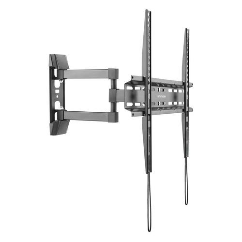 Кронштейн для телевизора ARM MEDIA LCD-414, 26-55, настенный, поворот и наклон кронштейн kromax vega 3 black для led lcd tv 15 32 max 20 кг настенный 0 ст свободы от стены 15 мм max vesa 100x100 мм