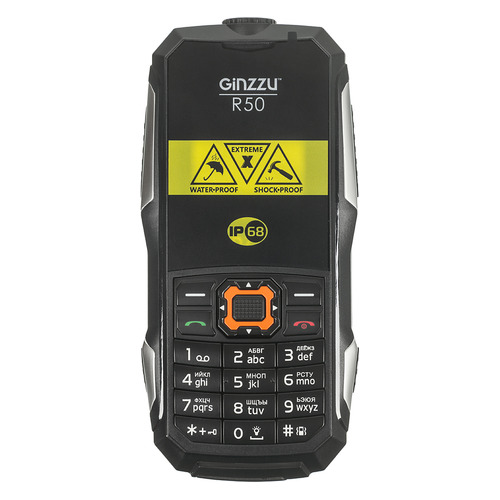 Мобильный телефон GINZZU R50, черный цена