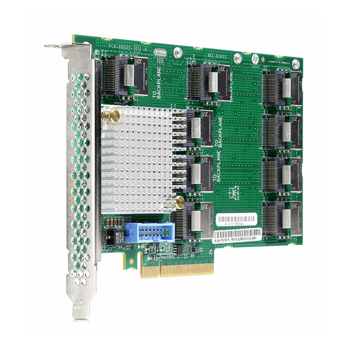 лучшая цена Контроллер HPE DL38X Gen10 12Gb SAS Expander Card Kit with Cables (870549-B21)