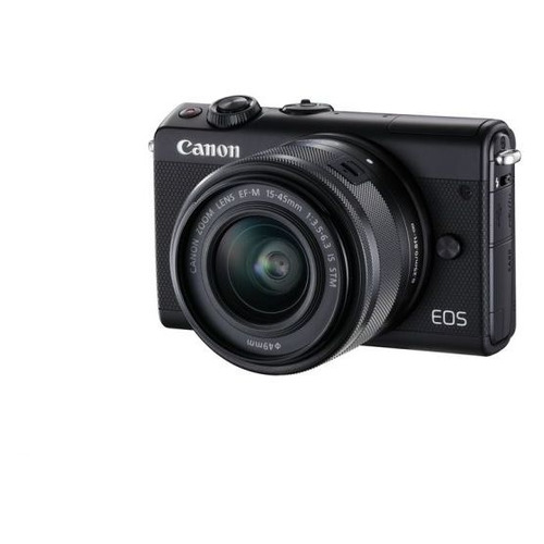 Фотоаппарат CANON EOS M100 kit ( 15-45 IS STM), черный [2209c012] canon eos m50 15 45 is stm белый
