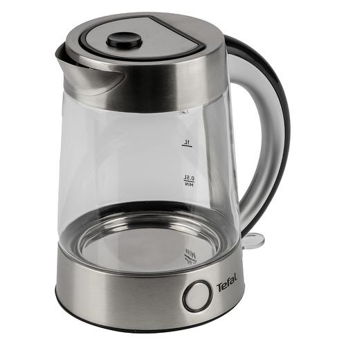 Чайник электрический TEFAL KI760D30, 2400Вт, серебристый KI760D30 по цене 3 780