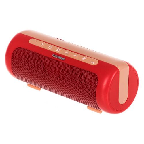 цена на Портативная колонка TELEFUNKEN TF-PS1231B, 4Вт, красный / оранжевый [tf-ps1231b(кораллово красный)]