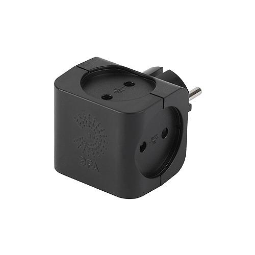 цены Сетевой разветвитель ЭРА SP-4-B, черный [б0008207]