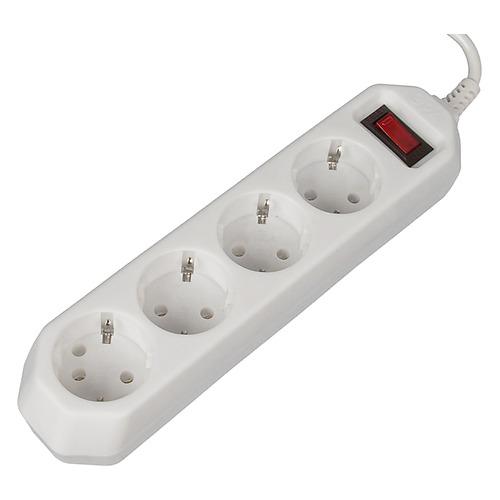 Сетевой фильтр ЭРА USF-M-4es-1.5m-W, 1.5м, белый [б0019741] USF-M-4es-1.5m-W по цене 300