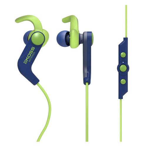 Фото - Наушники с микрофоном KOSS BT190i, Bluetooth, вкладыши, синий/зеленый [15119063] bluetooth гарнитуры