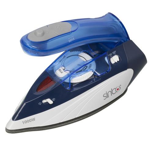 Фото - Дорожный утюг SINBO SSI 6623, 1000Вт, синий/ белый подошва тефлоновая lelit pa 205 1 для всех утюгов lelit
