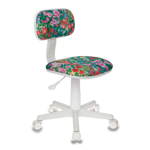 Кресло детское БЮРОКРАТ CH-W201NX, на колесиках, ткань, зеленый [ch-w201nx/grland] цены онлайн