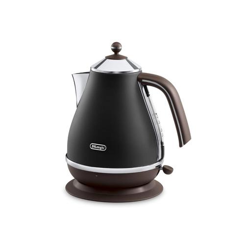 Чайник электрический DELONGHI KBOV 2001.BK, 2000Вт, черный и коричневый чайник delonghi kbov 2001 bk
