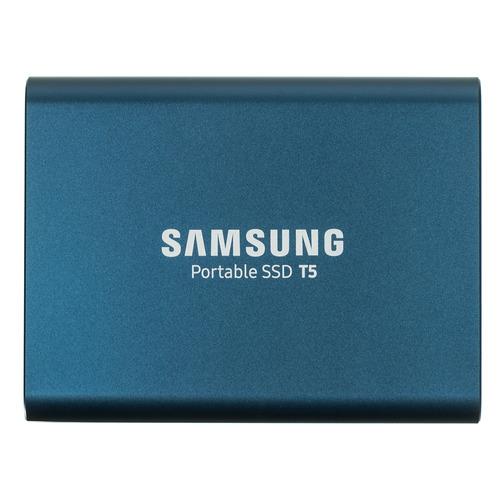 Фото - Внешний диск SSD Samsung T5 MU-PA500B/WW, 500ГБ, синий samsung t5 1tb mu pa1t0r ww красный