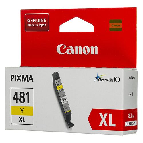 Картридж CANON CLI-481XL Y, желтый [2046c001] картридж canon cli 481m xl 2045c001 для canon pixma ts6140 ts8140ts ts9140 tr7540 tr8540 пурпурный