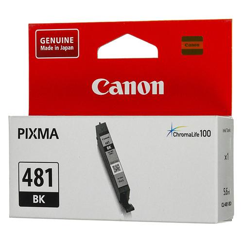 Картридж CANON CLI-481 BK, черный [2101c001] картридж canon cli 481m xl 2045c001 для canon pixma ts6140 ts8140ts ts9140 tr7540 tr8540 пурпурный