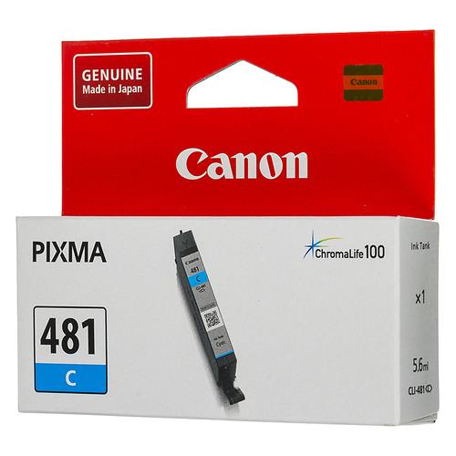 Картридж CANON CLI-481 C, голубой [2098c001] картридж canon cli 481m xl 2045c001 для canon pixma ts6140 ts8140ts ts9140 tr7540 tr8540 пурпурный