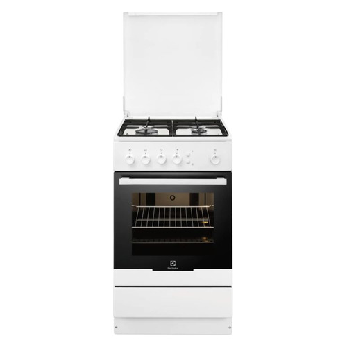 Газовая плита ELECTROLUX EKG95010CW, газовая духовка, белый цена и фото