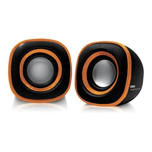 Колонки BBK CA-301S, 2.0, черный/ оранжевый цена