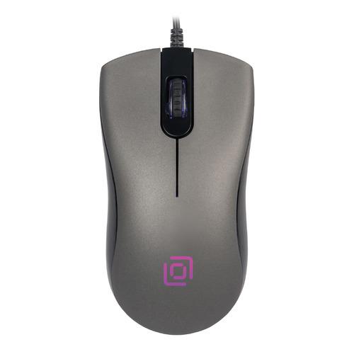 Мышь OKLICK 375M, оптическая, проводная, USB, серый [375m g] мышь oklick 185m оптическая проводная usb черный [m201]