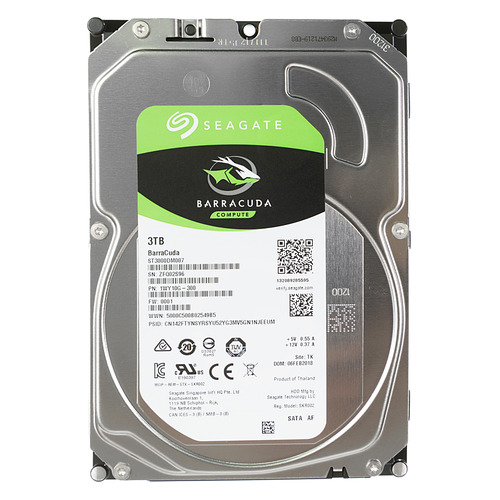 Жесткий диск SEAGATE Barracuda ST3000DM007, 3Тб, HDD, SATA III, 3.5 hdd диск