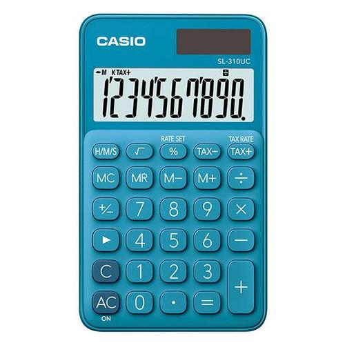 Калькулятор CASIO SL-310UC-BU-S-EC, 10-разрядный, синий