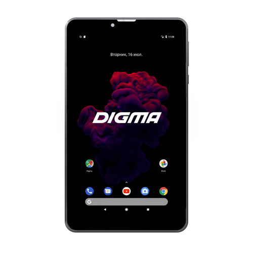 Планшет DIGMA Optima Prime 4 3G, 1GB, 8GB, 3G, Android 7.0 черный [tt7174pg] cubot p10 dual core android 4 2 wcdma bar phone w 5 0 ips qhd 8gb rom wi fi gps white