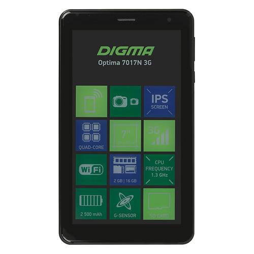 купить Планшет DIGMA Optima 7017N 3G, 2GB, 16GB, 3G, Android 7.0 черный [ts7177mg] недорого