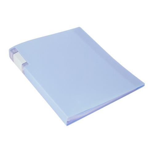 Фото - Папка с 40 прозр.вклад. Бюрократ Gems GEM40AZURE A4 пластик 0.7мм торц.карм с бум. встав голубой топ 10 шт./кор. папка 60ф a4 gems голубой пластик 0 7мм