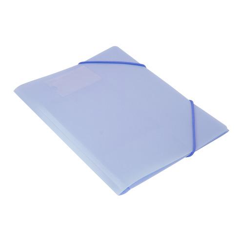 Фото - Папка на резинке Бюрократ Gems GEMPR05AZURE A4 пластик кор.30мм 0.5мм голубой топаз карман для визит 10 шт./кор. папка 60ф a4 gems голубой пластик 0 7мм