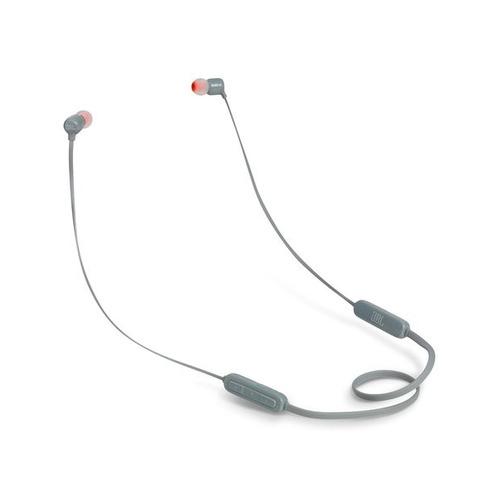 Наушники с микрофоном JBL T110BT GRY, Bluetooth, вкладыши, серый [jblt110btgry] JBLT110BTGRY