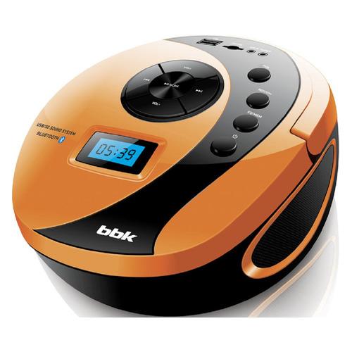 Аудиомагнитола BBK BS10BT, черный и оранжевый