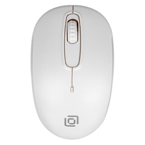 цена на Мышь OKLICK 505MW, оптическая, беспроводная, USB, белый [505mw w]