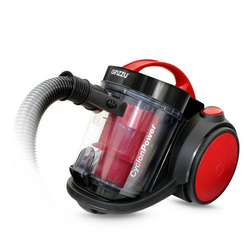 Пылесос GINZZU VS435, 2100Вт, черный/красный цена и фото