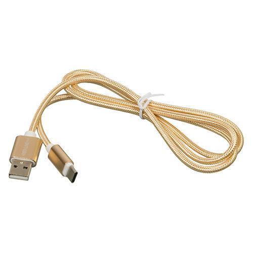 Кабель REDLINE USB Type-C (m), USB A(m), 1м, золотистый [ут000011691] дата кабель redline usb type c orange