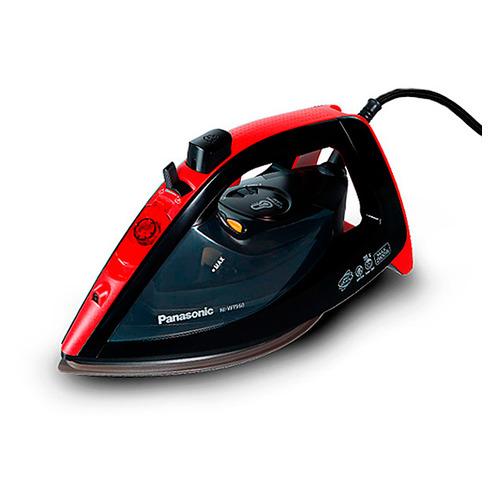 лучшая цена Утюг PANASONIC NI-WT960RTW, 2600Вт, черный/ красный