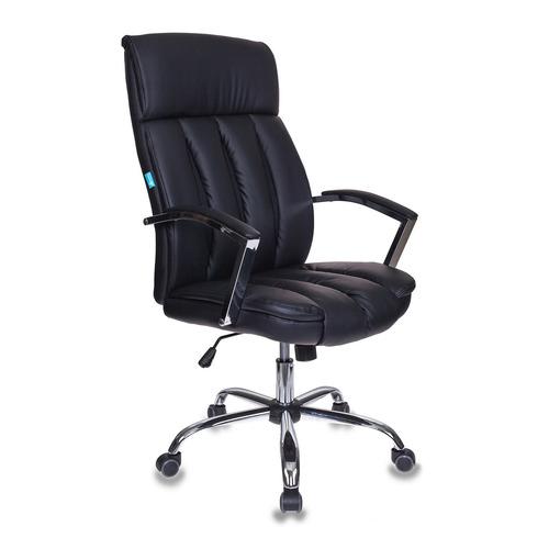 Кресло руководителя БЮРОКРАТ T-8000SL, на колесиках, искусственная кожа, черный [t-8000sl/bl+black] цена и фото