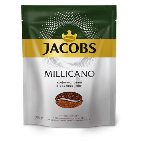 Кофе растворимый JACOBS MONARCH Millicano, 75грамм [8051171]