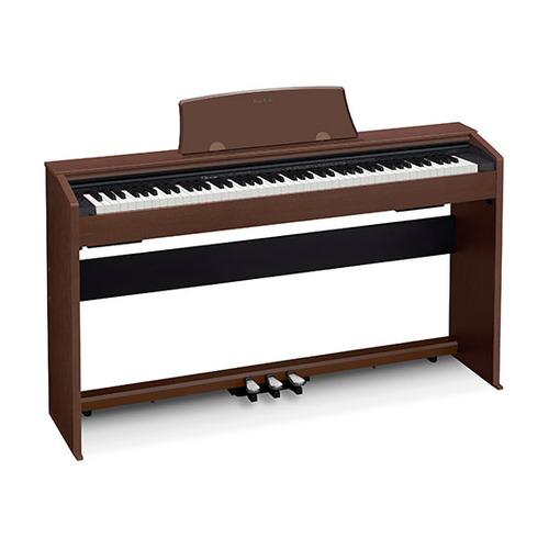 Цифровое фортепиано CASIO PRIVIA, PX-770BN, 88, полновзвешенная, полноразмерные, 128 коричневый