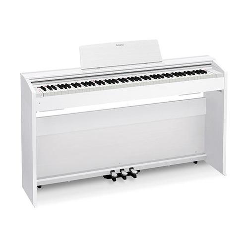 Цифровое фортепиано CASIO PRIVIA, PX-870WE, 88, полновзвешенная, полноразмерные, 256 белый