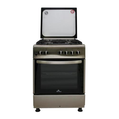 Газовая плита DE LUXE 606040.24-000г (кр) ЧР, газовая духовка, нержавеющая сталь газовая плита de luxe 506040 05г газовая духовка белый