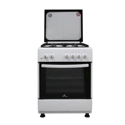 Газовая плита DE LUXE 606040.24-001г (кр) ЧР, газовая духовка, белый газовая плита de luxe 506040 05г газовая духовка белый